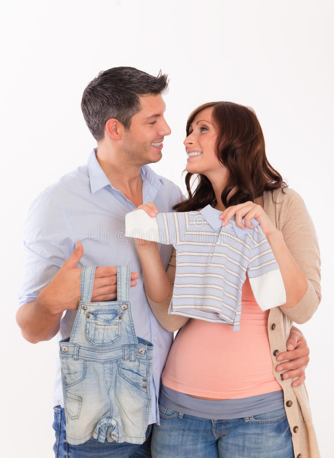Couples de grossesse photos libres de droits