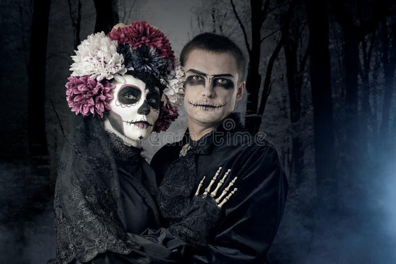 Couples de Halloween photo libre de droits