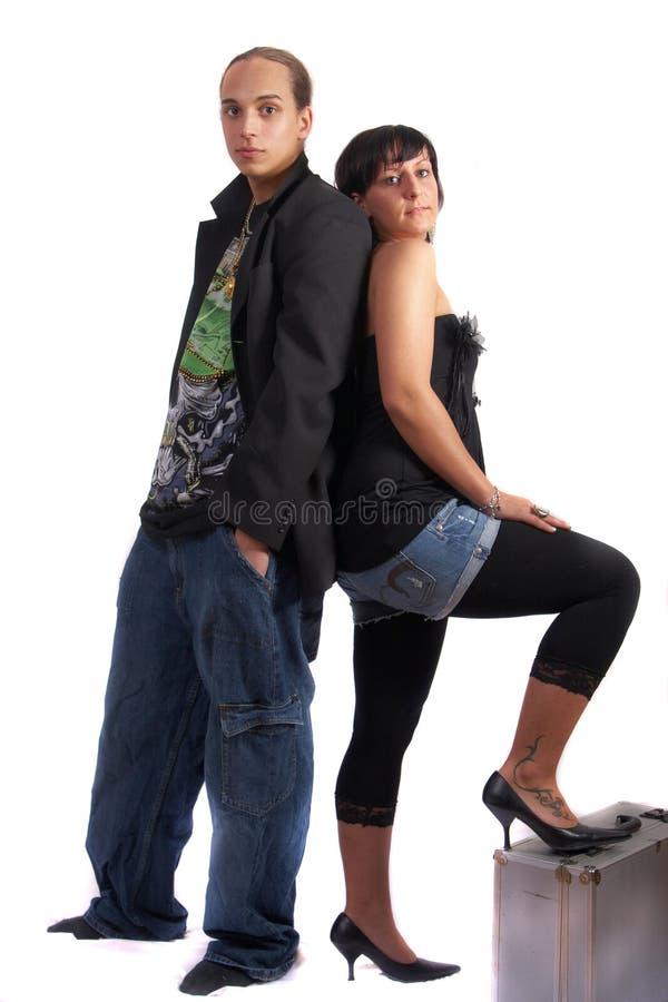 Couples de Hiphop photo stock