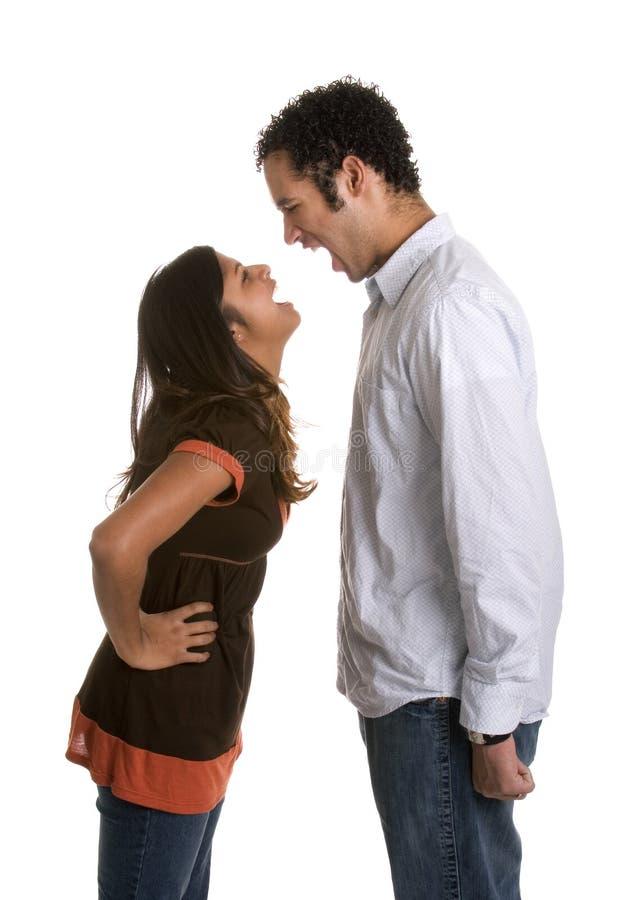 Couples de hurlement fâchés photos stock