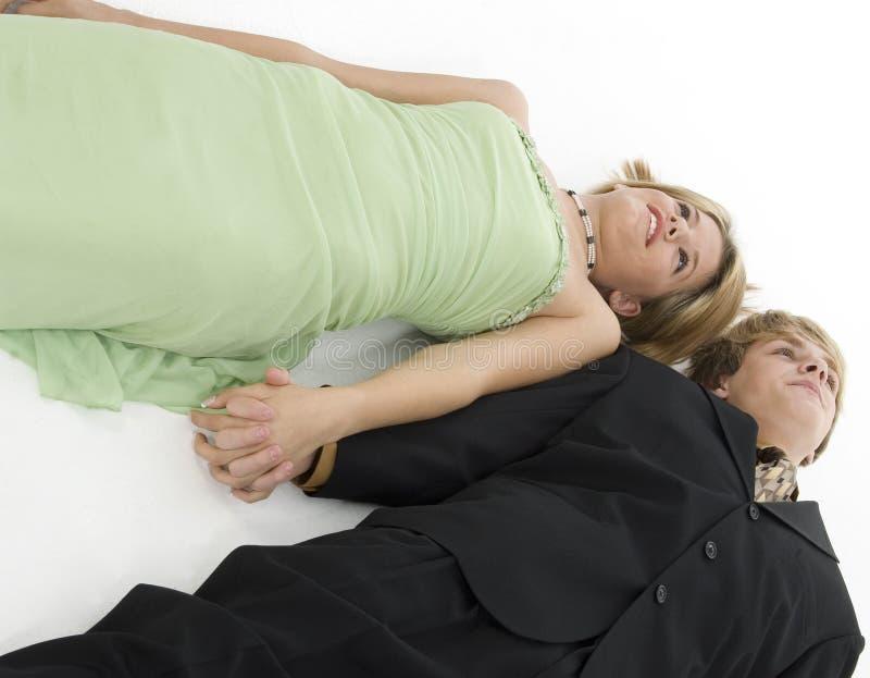Couples de l'adolescence images libres de droits