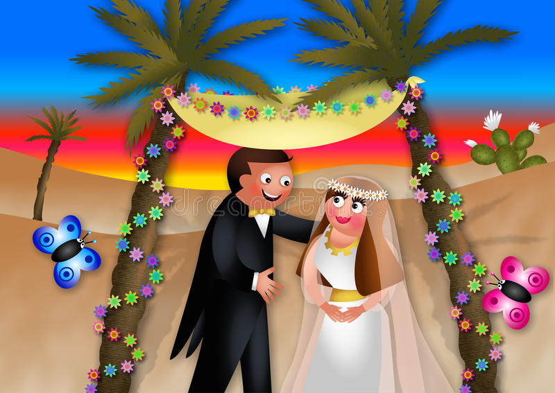 Couples de mariage illustration stock