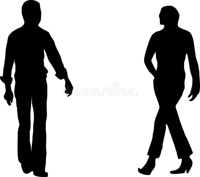 Couples de mode illustration stock