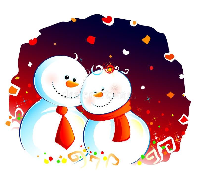 Couples de neige illustration de vecteur