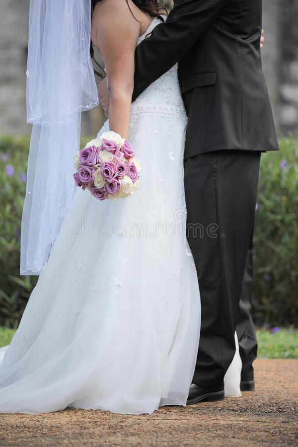 Couples de Newlwed image stock