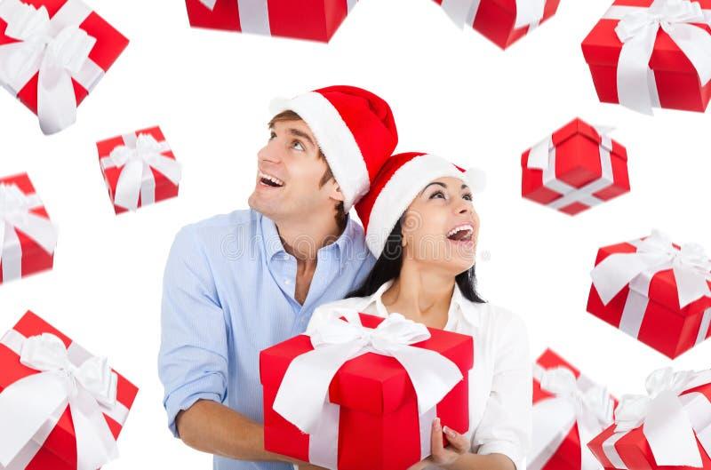 Couples de Noël photographie stock libre de droits