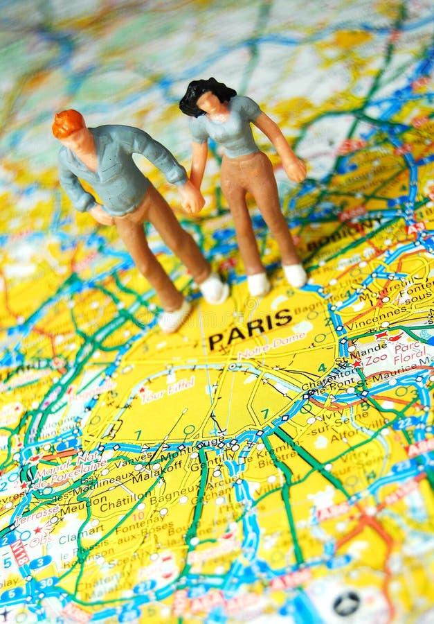 Couples de Paris   images stock