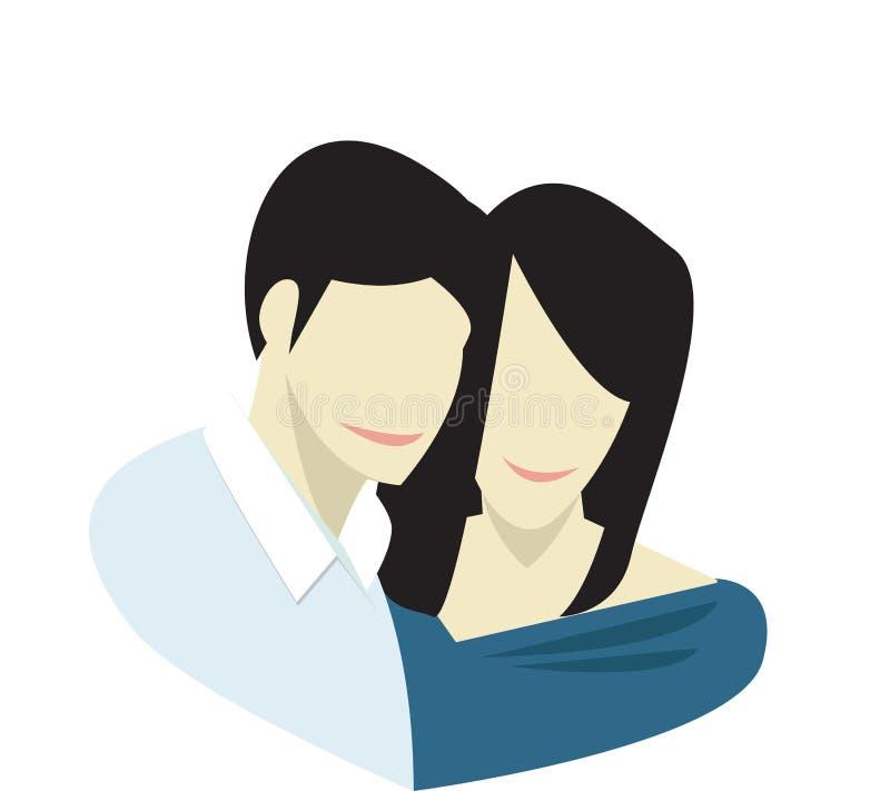 Couples de Saint-Valentin illustration libre de droits