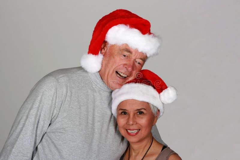 Couples de Santa images stock