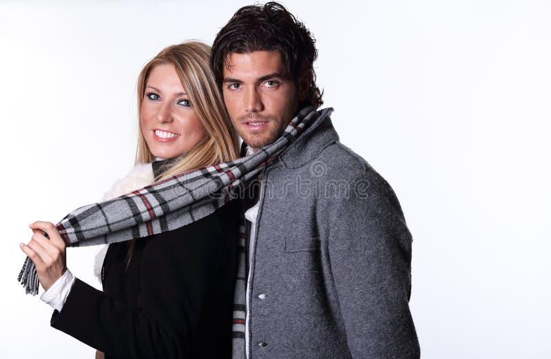 Couples de sourire des mannequins photos libres de droits