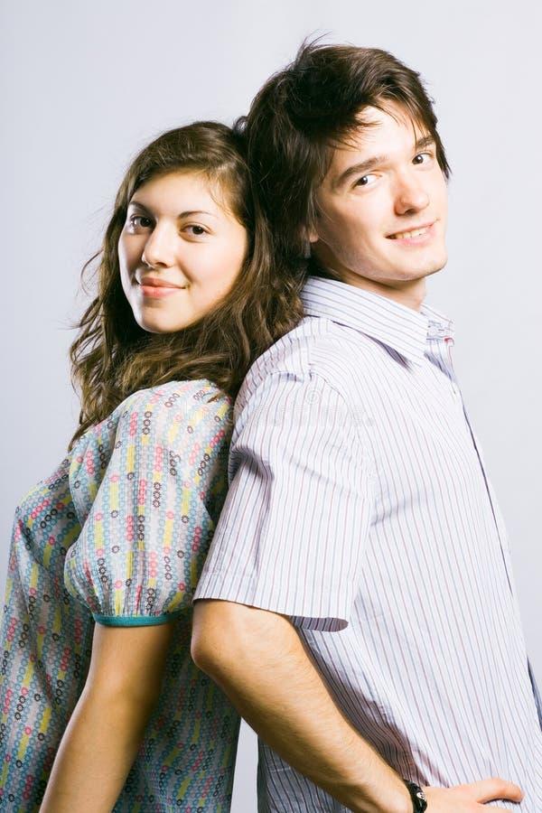 Couples de sourire heureux photos libres de droits