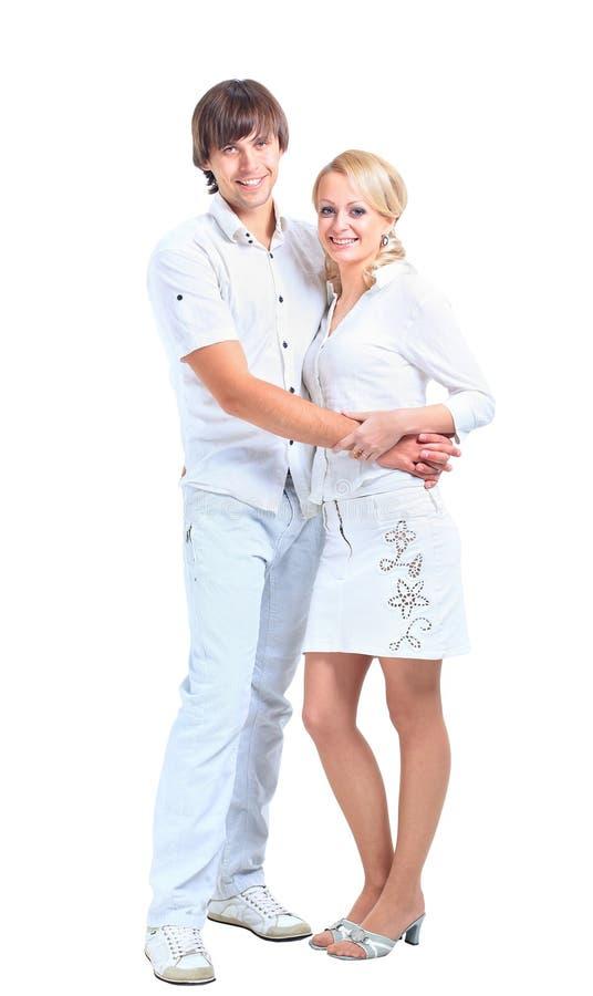 Couples de sourire heureux images libres de droits