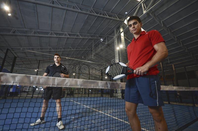 Couples de tennis de palette images libres de droits