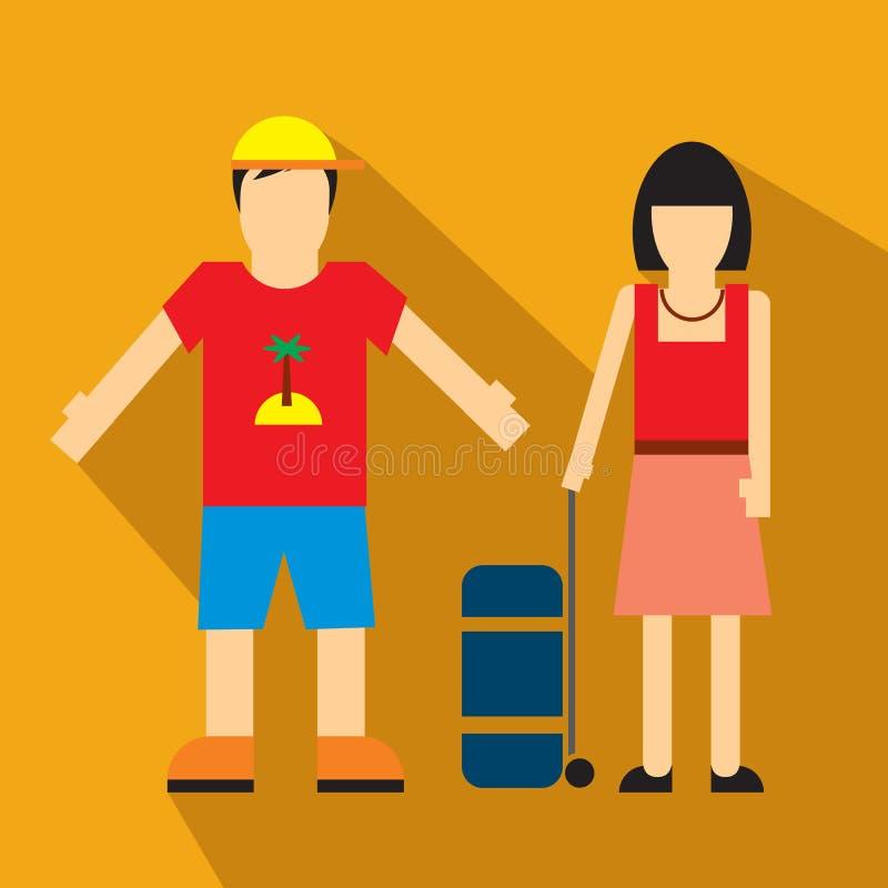 Couples de touriste illustration libre de droits