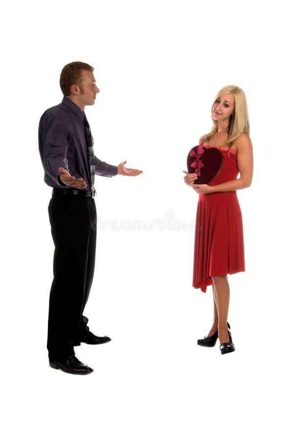 Couples de Valentine images stock