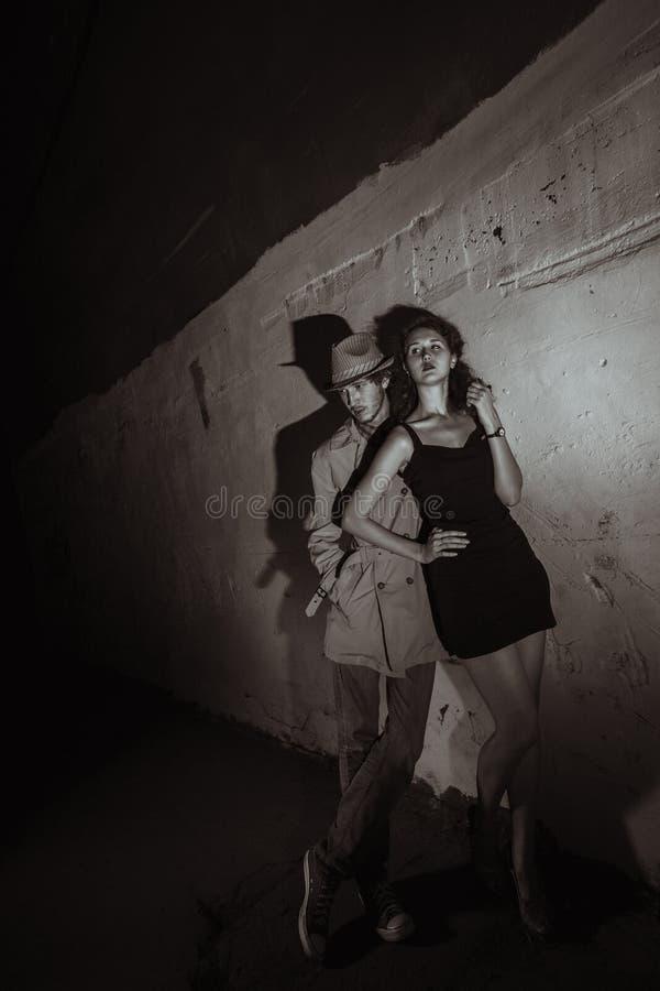 Couples des bandits image stock