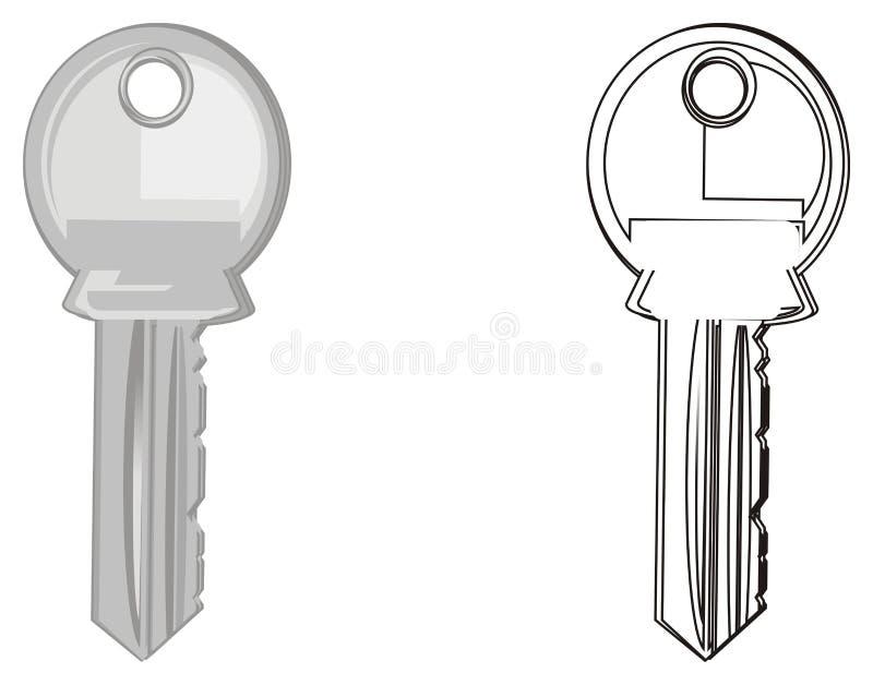 Couples des clés illustration stock