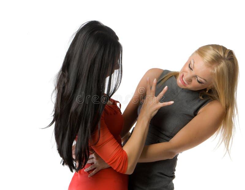 Couples des dames chaudes photographie stock libre de droits