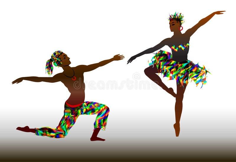 Couples des danseurs classiques illustration de vecteur