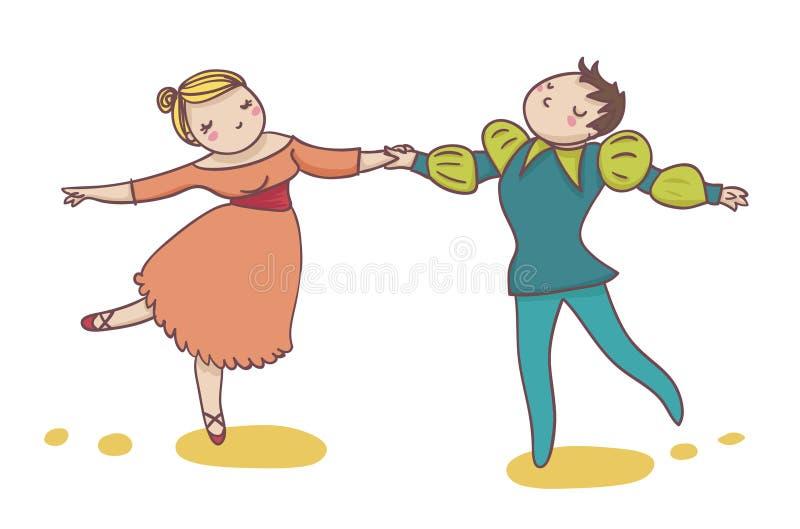 Couples des danseurs de ballet illustration libre de droits