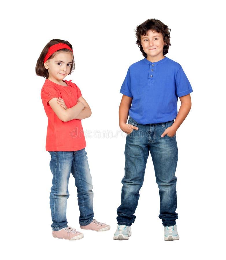Couples des enfants photo stock