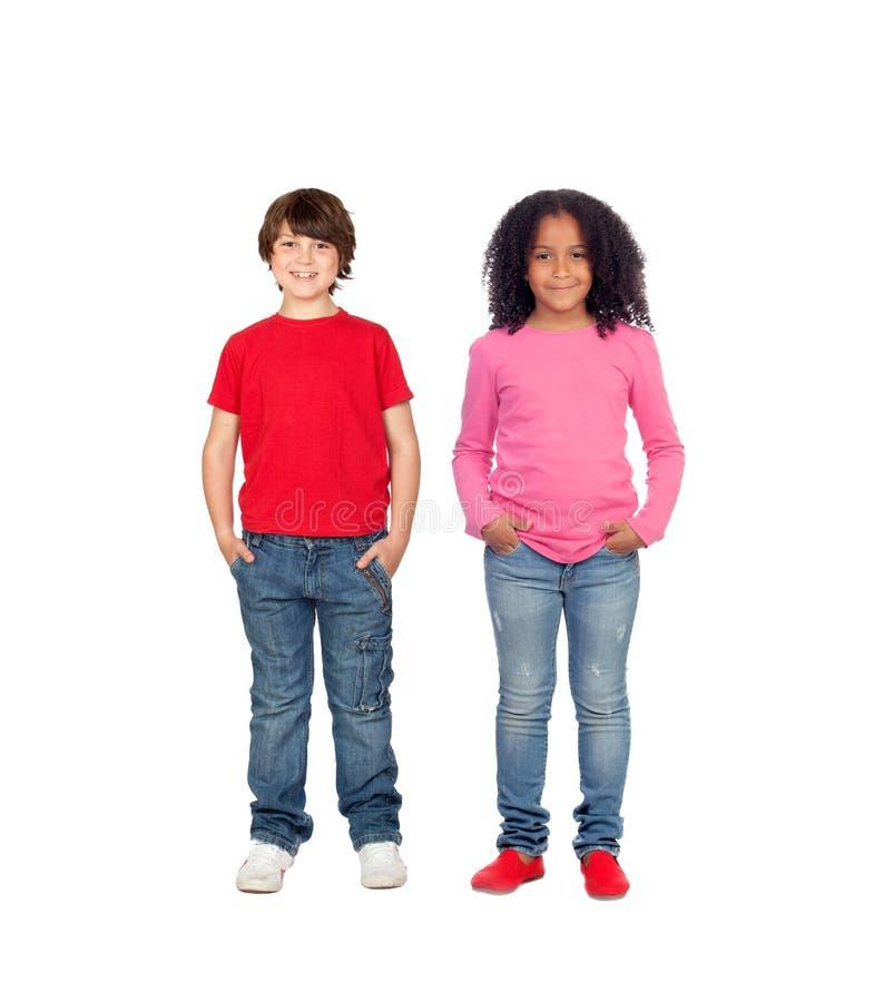 Couples des enfants photos stock