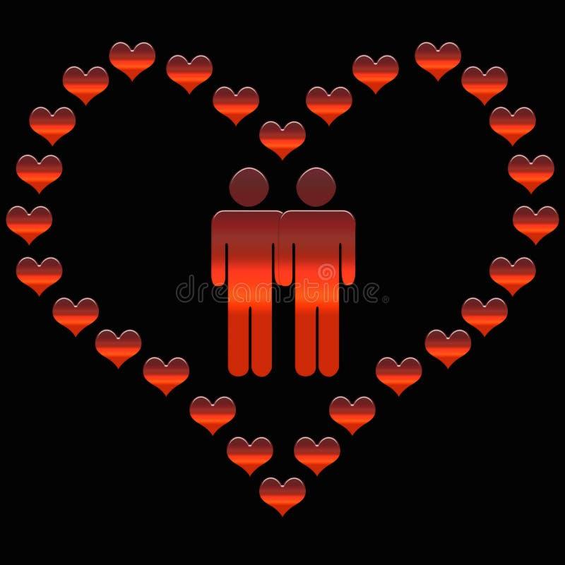 Couples des homosexuels illustration libre de droits