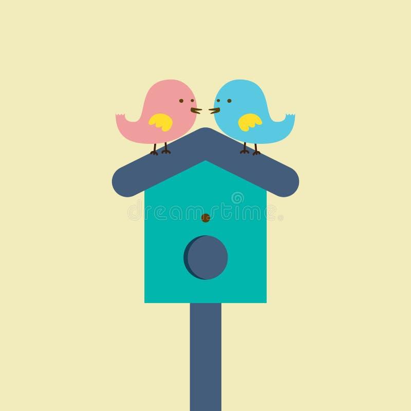 Couples des oiseaux illustration de vecteur