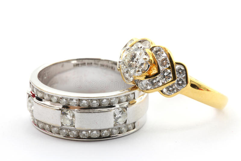 Couples Diamond Ring stock images