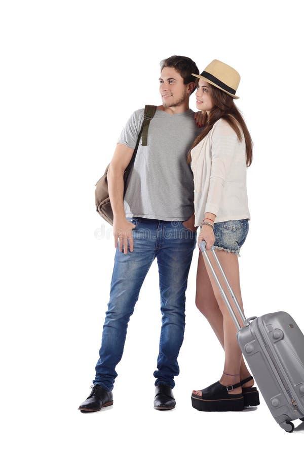 Couples en voyage image libre de droits