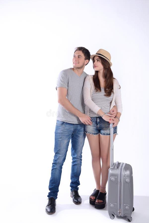 Couples en voyage photos libres de droits