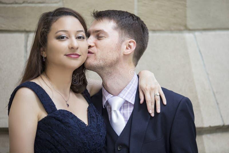 Couples engagés photographie stock libre de droits