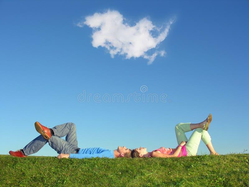 Couples et nebule photographie stock libre de droits