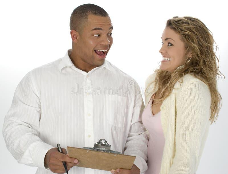 Couples Excited photographie stock libre de droits