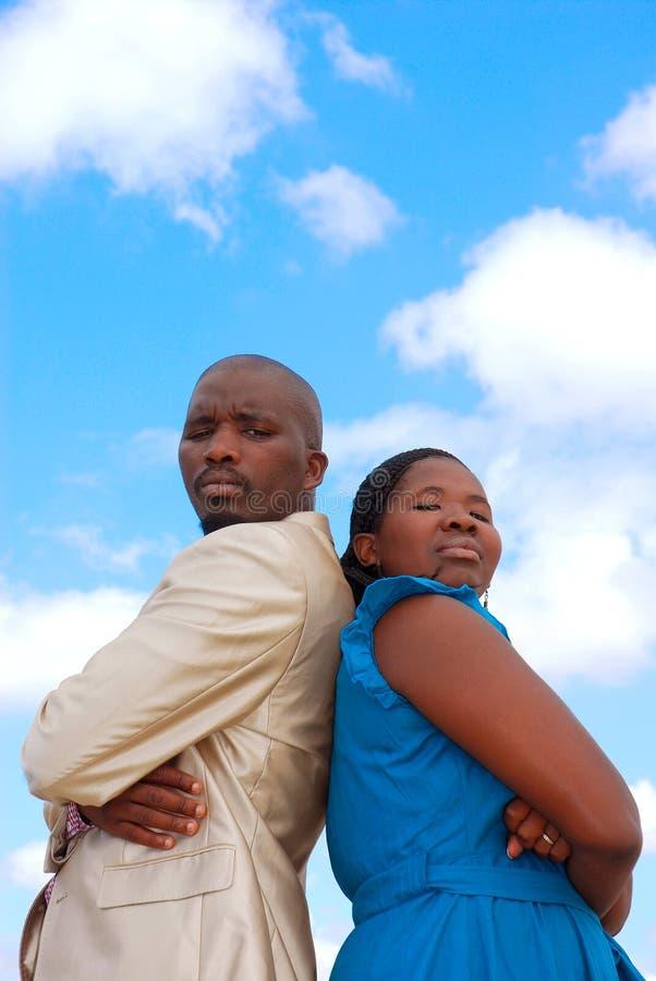 Couples fâchés image stock