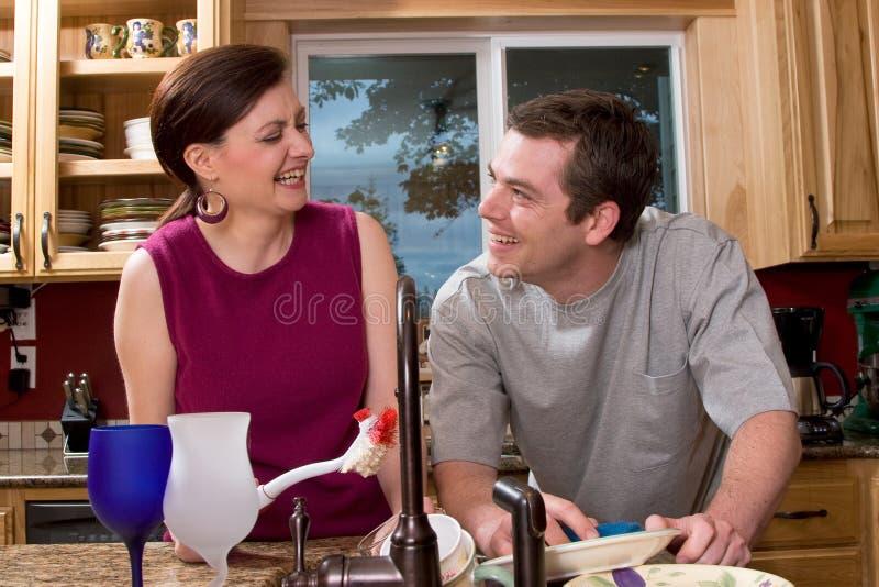 Couples faisant des paraboloïdes - horizontaux photos stock
