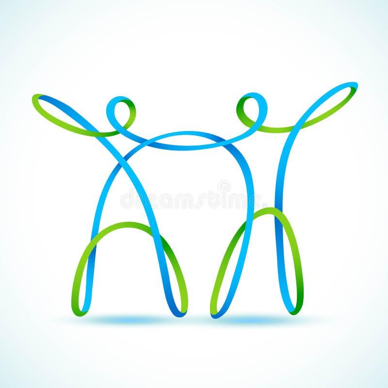 Couples faits de swirly chiffres illustration stock