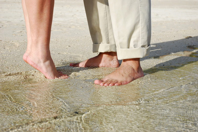 Download Couples Feet Standing On Beach Stock Images - Image: 7630624