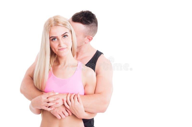Couples forts et sains images libres de droits