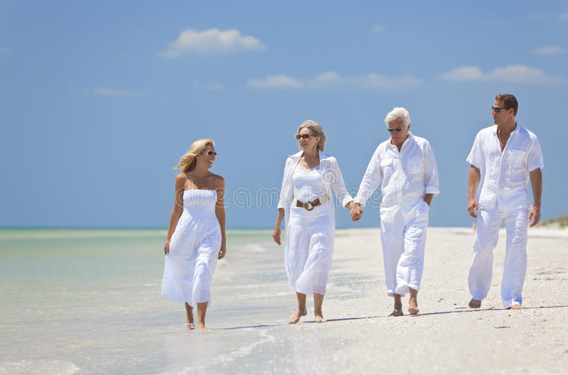 Download Couples Generations Family Walking Tropical Beach Stock Image - Image: 20456651