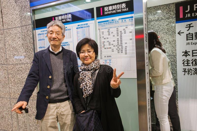 Couples gentils - homme et femme - d'Osaka images libres de droits