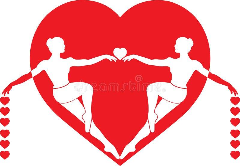 Download Couples girl stock illustration. Image of logo, idea - 13073996