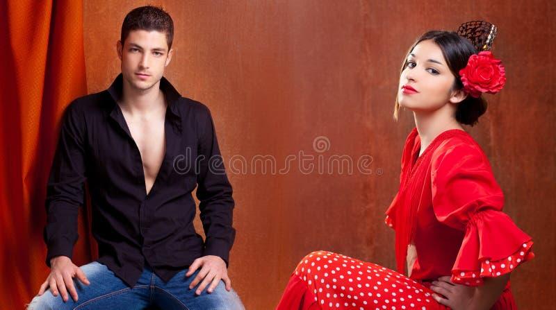 Couples gitans de danseur de flamenco d'Espagne photos stock