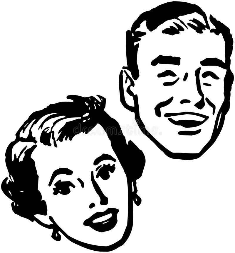 Couples heureux illustration stock