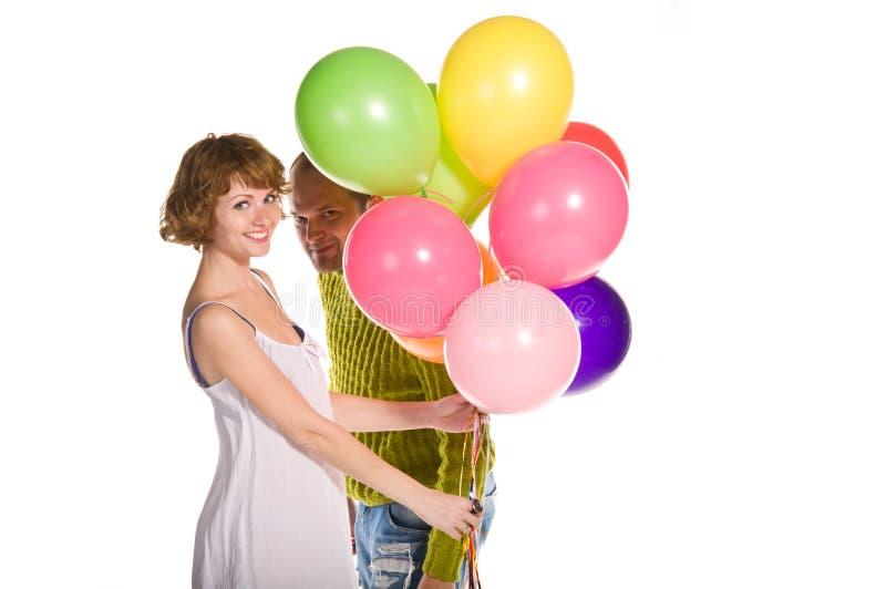 Couples heureux célébrant des vacances image libre de droits