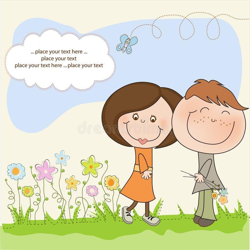 Couples heureux d'amoureux illustration libre de droits