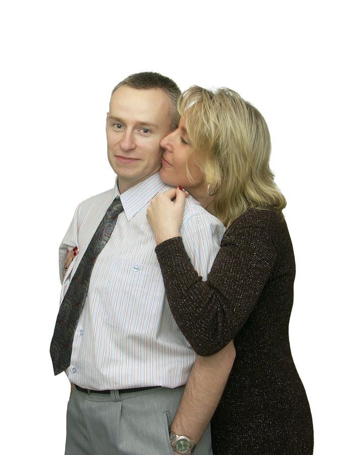 Couples heureux dans l'amour photographie stock libre de droits