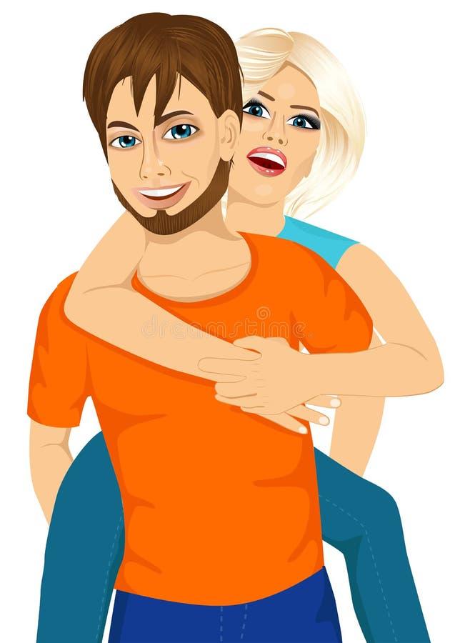 Couples heureux dans l'amour illustration libre de droits