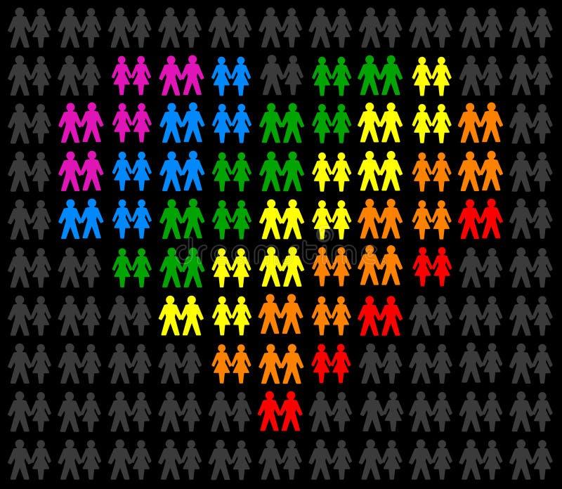 Couples homosexuels illustration de vecteur