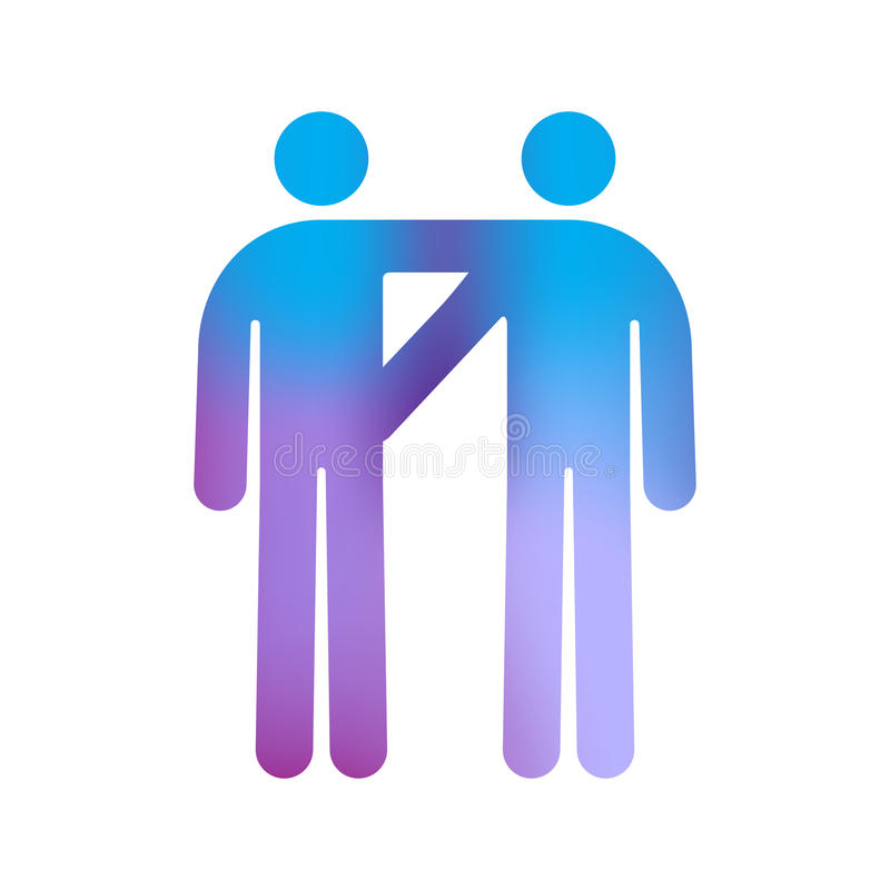 Couples homosexuels mâles illustration stock
